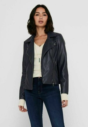 ONLMELISA BIKER - Faux leather jacket - night sky