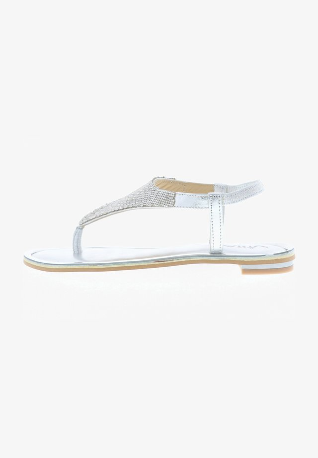 VISTA  - T-bar sandals - silber