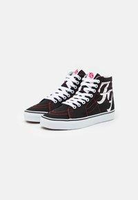Vans - SK8 HI FOO FIGHTERS UNISEX - Höga sneakers - black/white - 1