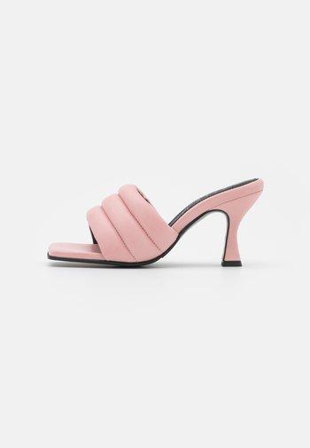SLFASHLEY PADDED MULE - Heeled mules - prism pink