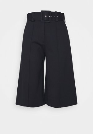 BELTED PONTI CULOTTES - Trousers - dark navy