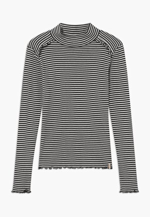 FITTED STRIPES - T-shirt à manches longues - black/white