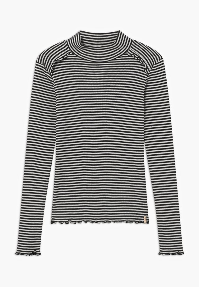 FITTED STRIPES - Topper langermet - black/white