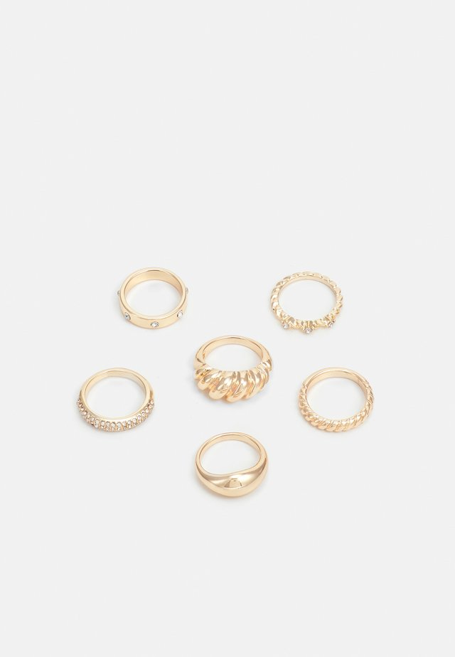 6 PACK - Bague - gold-coloured