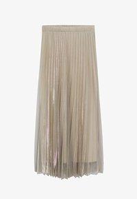 Mango - MIT METALLIC-EFFEKT - A-line skirt - beige - 5