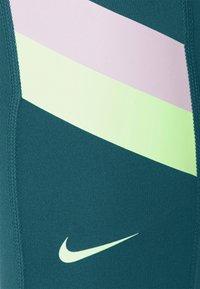 Nike Performance - ONE STRIPE 7/8  - Tights - dark teal green/lime glow - 6