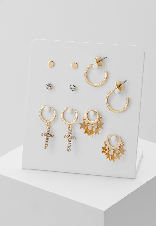 ONLCANDIE EARRINGS 5 PACK - Korvakorut - gold-coloured