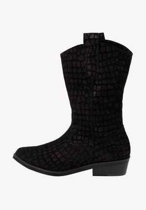 ON THE ROCK NEW - Cowboy/Biker boots - black