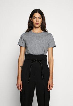 LOGO CREW - Basic T-shirt - grey melange