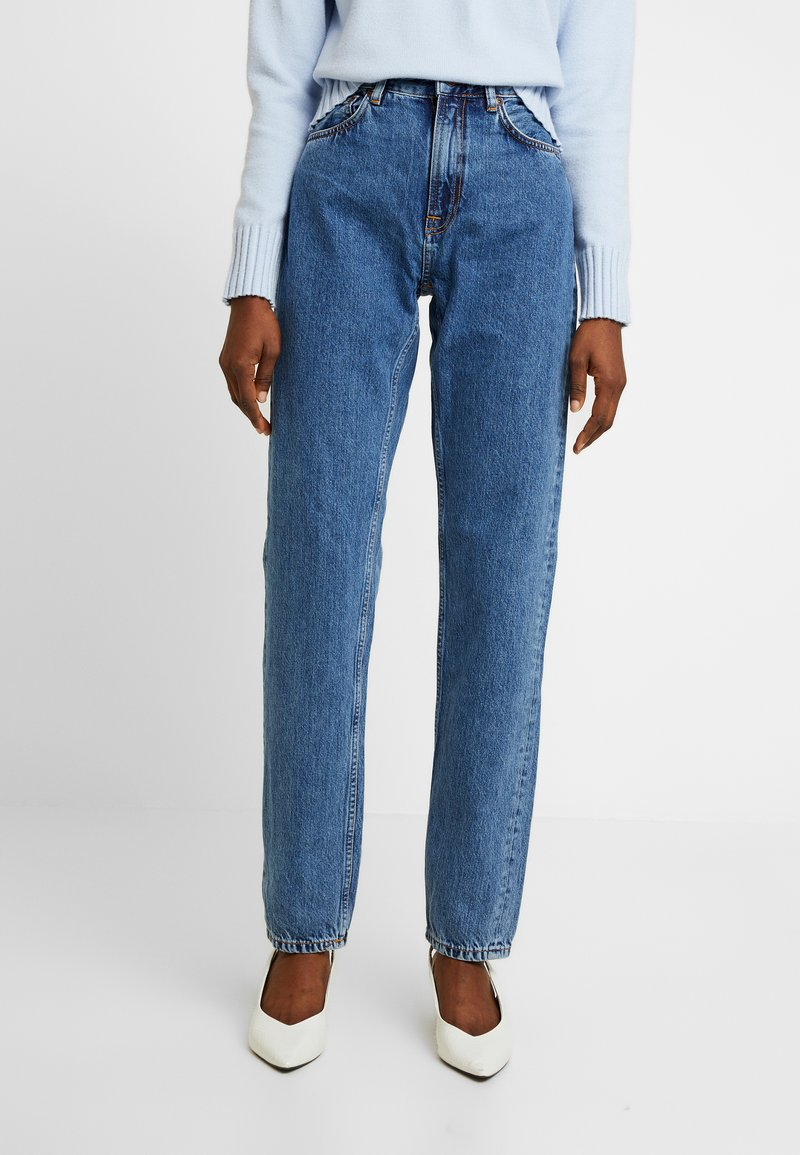 Nudie Jeans - BREEZY BRITT - Jeans straight leg - friendly blue