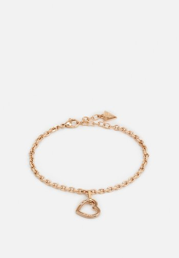 HEARTED CHAIN - Armbånd - rose gold-coloured