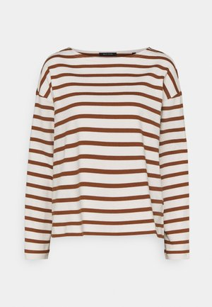 LONG SLEEVE BOAT NECK - Pullover - multi/toffee brown