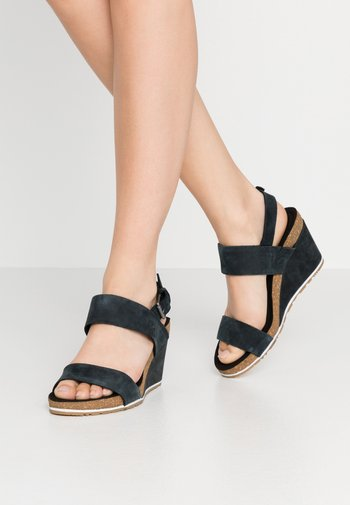 CAPRI SUNSET WEDGE - Platform sandals - black