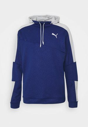 TRAIN ACTIVATE HOODIE - Bluza z kapturem - elektro blue/gray violet