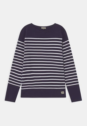 AMIRAL MARINIÈRE - Long sleeved top - navy/white
