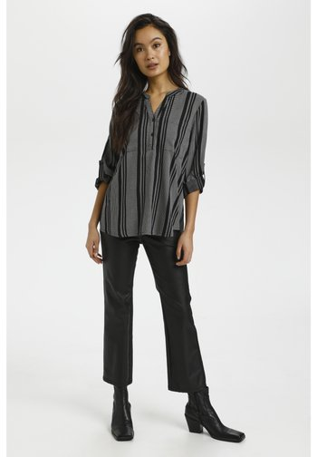 NORAL BLOUSE - Long sleeved top - black/chalk