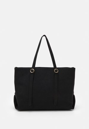 CHALKY ROUND POUCH TOTE - Shopping bag - black