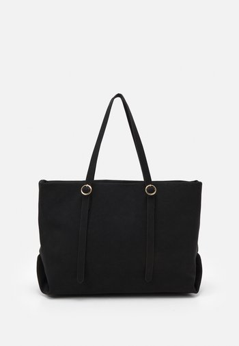 CHALKY ROUND POUCH TOTE - Tote bag - black