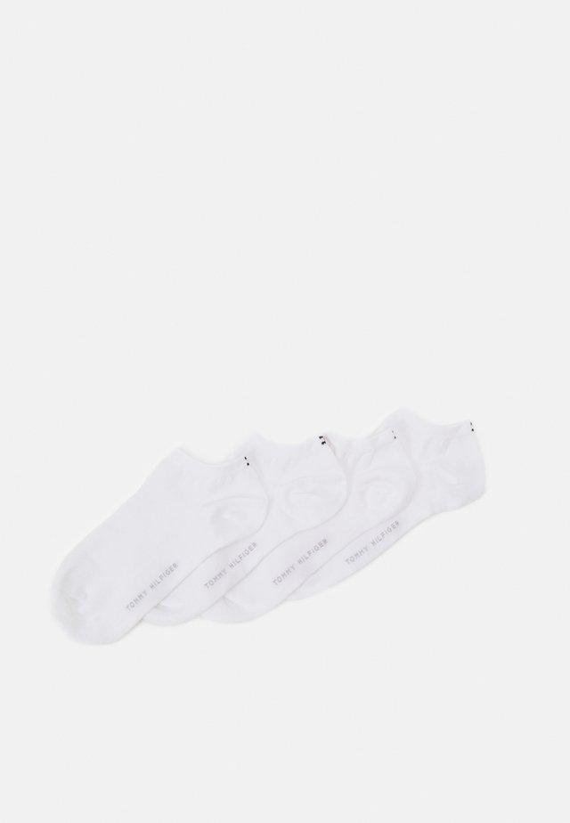 WOMEN SNEAKER 4 PACK - Ponožky - white