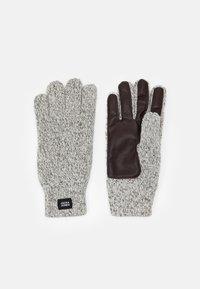 Jack & Jones - JACETHAN GLOVES - Gloves - white melange - 0