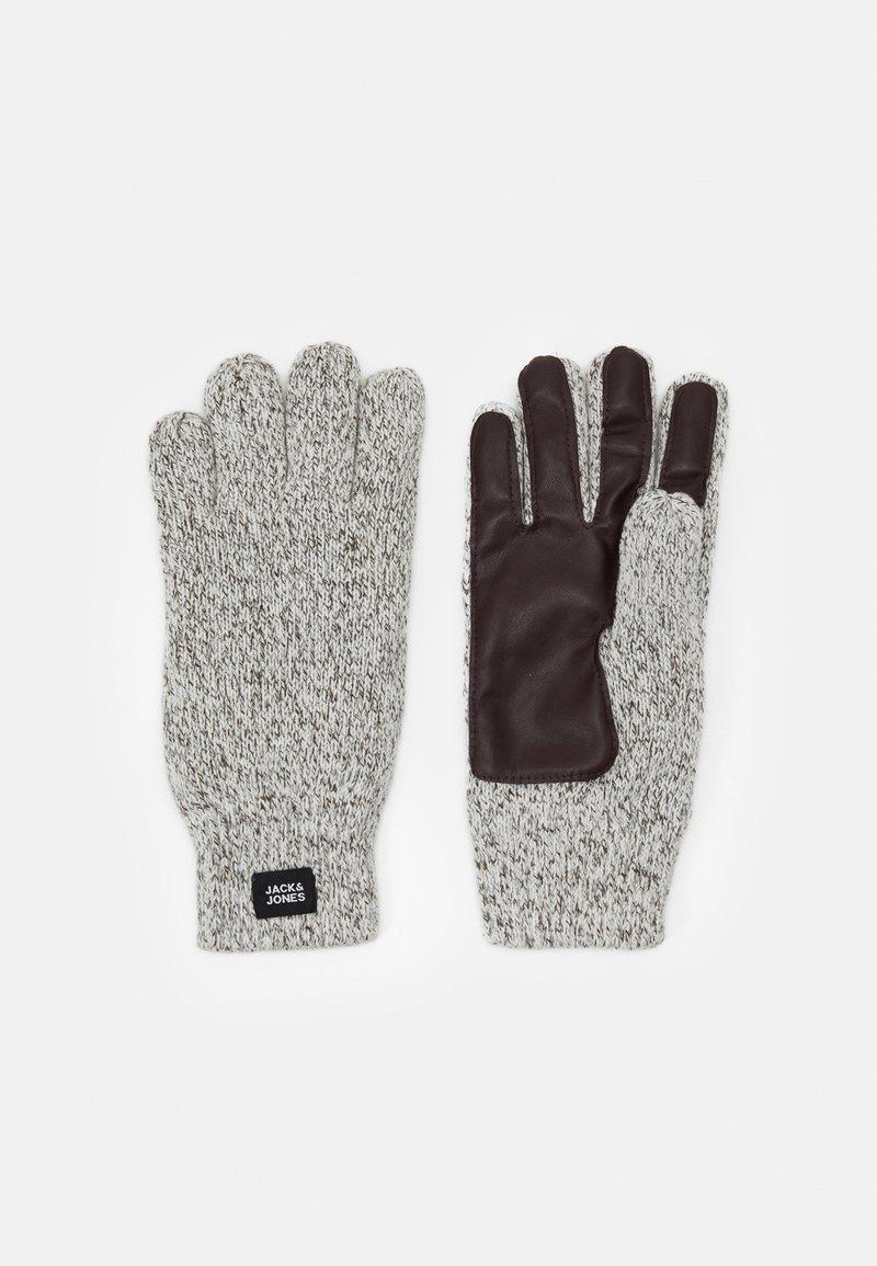 Jack & Jones - JACETHAN GLOVES - Gloves - white melange