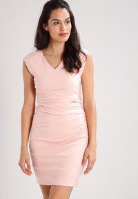 Kaffe - INDIA V NECK DRESS - Shift dress - evening rose - 0