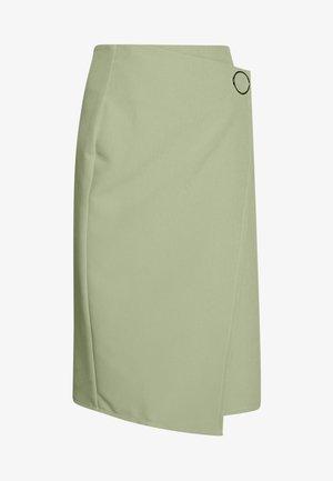 WEST SKIRT - Pouzdrová sukně - sage