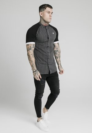 RAGLAN INSET - Shirt - black/white
