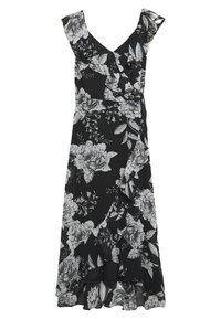 Wallis - LINEA FLORAL RUFFLE DRESS - Day dress - black - 1