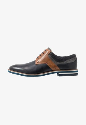VASCO - Business-Schnürer - navy/cognac/grey