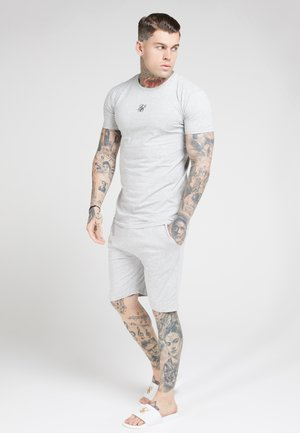 SIKSILK 2 PACK TEE - Camiseta estampada - black/grey marl