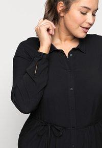 ONLY Carmakoma - CARNEWMARRAKESH - Shirt dress - black - 3