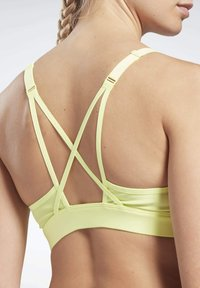 Reebok - LUX STRAPPY MEDIUM-IMPACT SPORTS BRA - Sports bra - yellow - 4