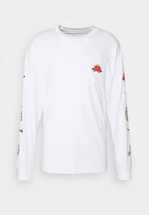 LONG SLEEVE POCKET SKATE - Maglietta a manica lunga - white/black