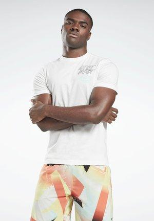 RETRO VECTOR T-SHIRT - T-shirt med print - white