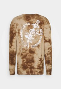 Revival Tee - NEW BEGINNINGS TEE TIE DYE UNISEX - Top s dlouhým rukávem - black/khaki - 6