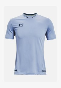 Under Armour - ACCELERATE PREMIER TEE - Print T-shirt - washed blue - 2