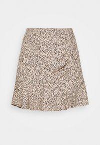 Abercrombie & Fitch - CINCH DETAIL SKIRT - Áčková sukně - brown - 4