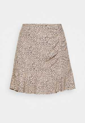 CINCH DETAIL SKIRT - A-linjainen hame - brown