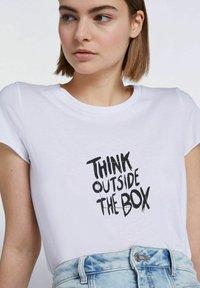 SET - Print T-shirt - bright white - 5