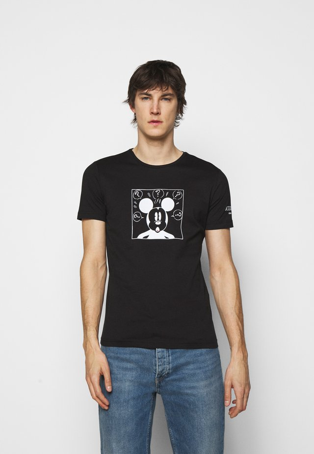 NEW COLLECTION WITH MICKEY MOUSE - T-shirt con stampa - nero