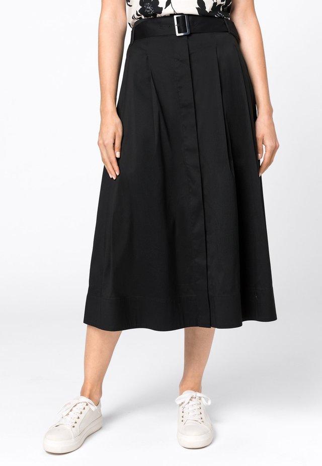 MIT GÜRTEL - A-line skirt - zwart