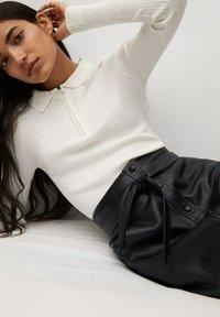 Mango - Leather skirt - černá - 4