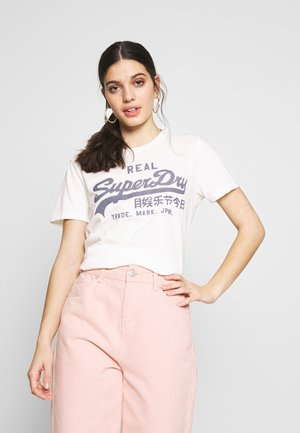 GINGHAM ENTRY TEE - T-shirts med print - chalk white