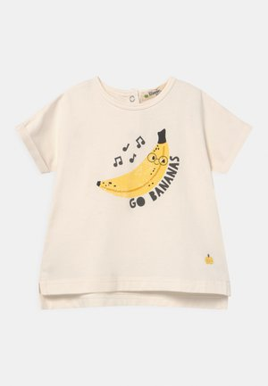 PERCY UNISEX - Print T-shirt - white/yellow
