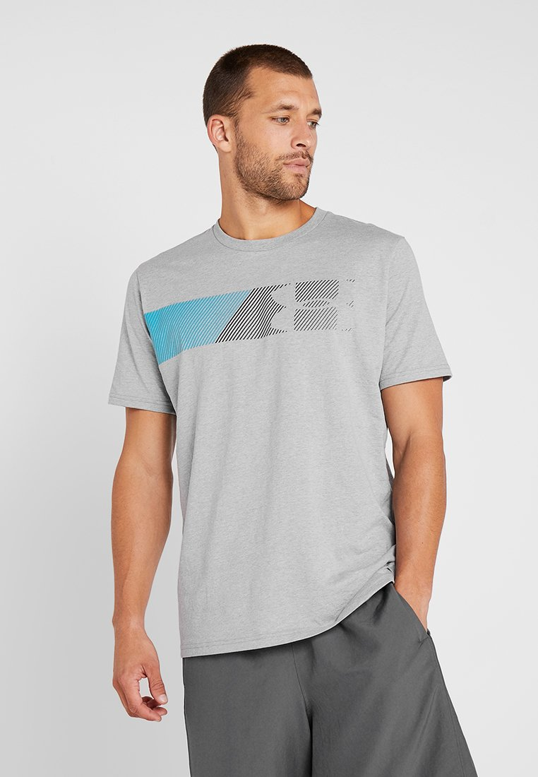 Under Armour - FAST LEFT CHEST 2.0  - Print T-shirt - steel light heather