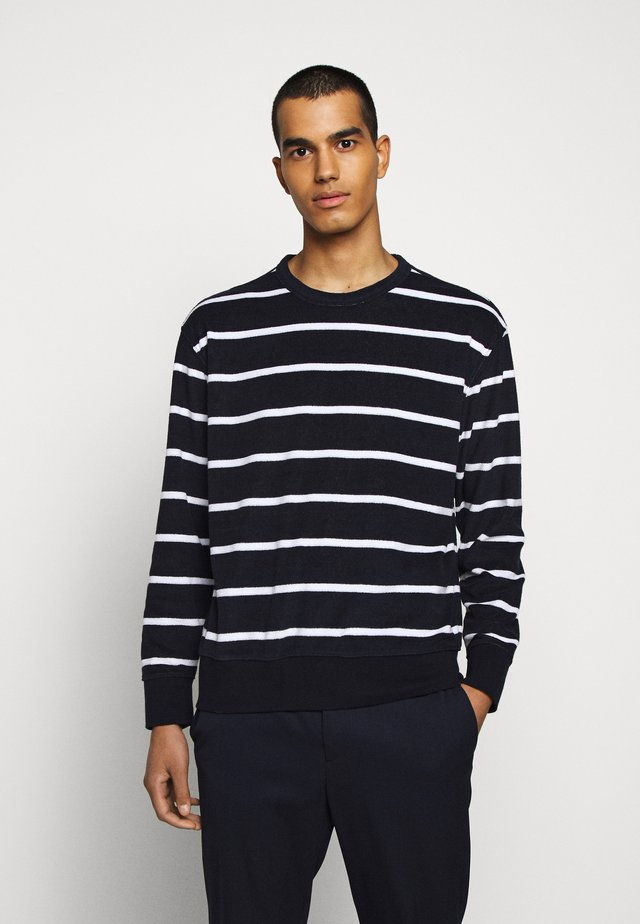 TERRY - Sweatshirt - blue/white
