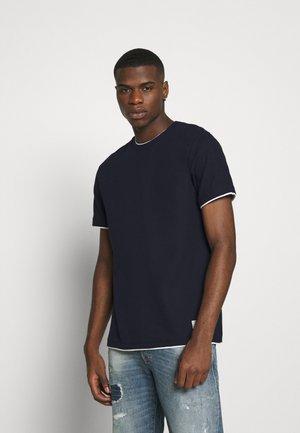 JPRBLATAYLOR TEE CREW NECK - Basic T-shirt - dark navy