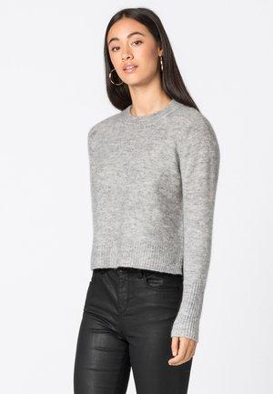 MIT SEITENSCHLITZEN - Jumper - light mottled grey