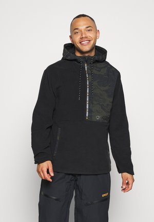 FLIGHT TIME HOODY - Fleecepullover - blackout